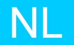 Blauwe Sticker NL